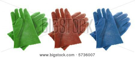 Rubber Gloves Isolated