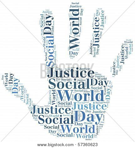 Tag Or Word Cloud World Day Of Social Justice Related