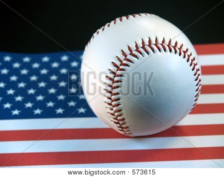 Baseball On Flag