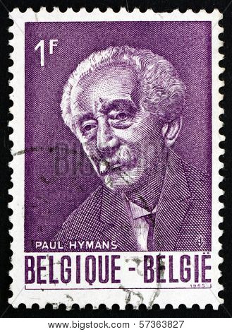 Postage Stamp Belgium 1965 Paul Hymans, Politician