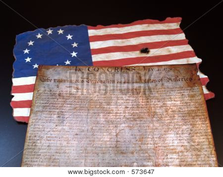 Declaratin  Betsy Ross Flag
