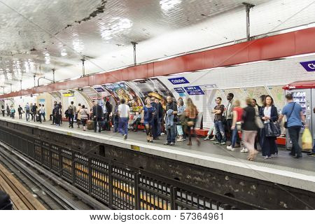 Paris Metro Station Chatelet - France.