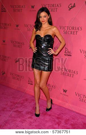 Miranda Kerr at the Victoria's Secret Supermodels Celebrate the Reveal of the 2010