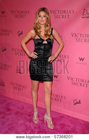 Doutzen Kroes at the Victoria's Secret Supermodels Celebrate the Reveal of the 2010