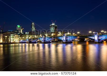 Southwark Bridge Nightscape