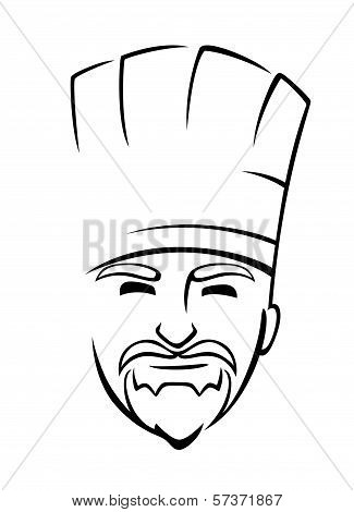 Bearded chef with a toque