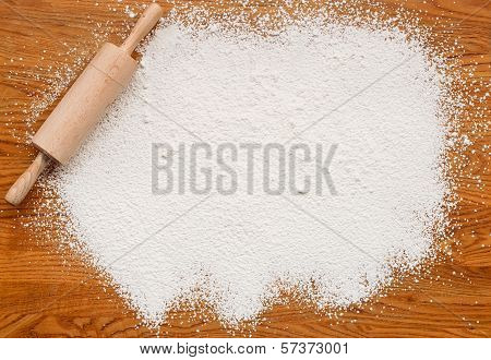 Baking Flour Texture Background