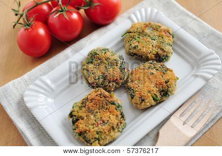 Delicious veggie burger patty