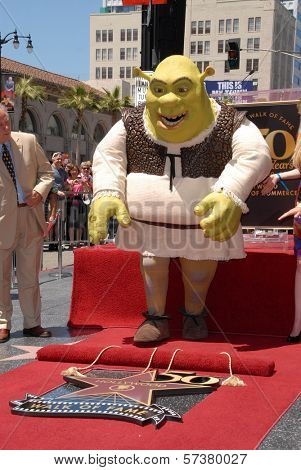 Shrek at the induction of Shrek into the Hollywood Walk of Fame, Hollywood, CA. 05-20-10