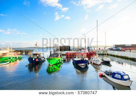 Cobh, Ireland - November 26 : View Of Harbour On November 26, 2012 In Cobh Ireland