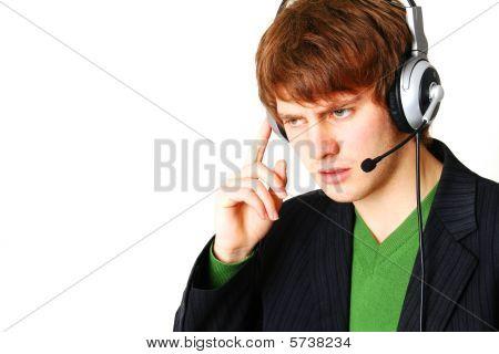 Male Operator Help Desk