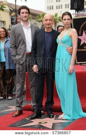 Edmund Kingsley, Sir Ben Kingsley, Daniela Lavender at the induction ceremony for Sir Ben Kingsley into the Hollywood Walk of Fame< Hollywood, CA. 05-27-10