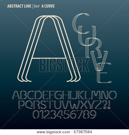Abstract Curve Line Alphabet And Digit Vector
