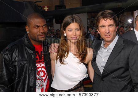 Bradley Cooper, Jessica Biel and Sharlto Copley at