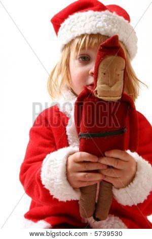 Child Santa Clause Sad