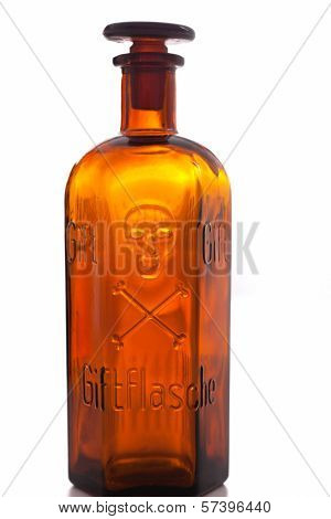 Old Pharmacy Bottle Marked Poison