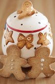 foto of home-made bread  - Home made Gingerbread Man Cookies for christmas - JPG