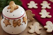pic of home-made bread  - Home made Gingerbread Man Cookies for christmas - JPG
