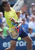 Professional tennis player Ivan Dodig during third round singles match at US Open 2013