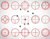 picture of crosshair  - Set of fifteen red cross hairs - JPG