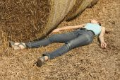 Woman Unconscious In Field