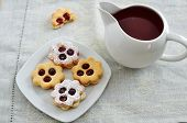 pic of linzer  - Traditional Linzer Cookies with sugar and jam - JPG