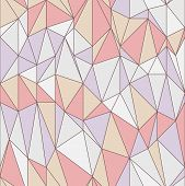 Seamless Geometric Pattern With Triangular Grid