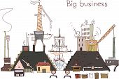 image of shipbuilding  - Ship yard repairing work illustration - JPG