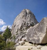 pic of granite dome  - Summit Half dome in the Yosemite national park USA - JPG