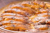 stock photo of flounder  - Cooked fish with spices baked in oven - JPG
