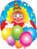 image of purim  - The ridiculous clown amuses all for a holiday of Purim - JPG