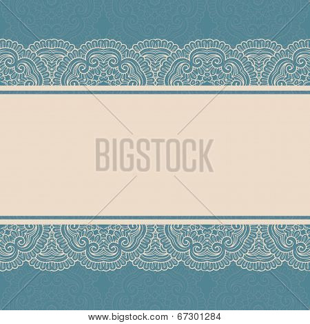 Vintage lace border on seamless background