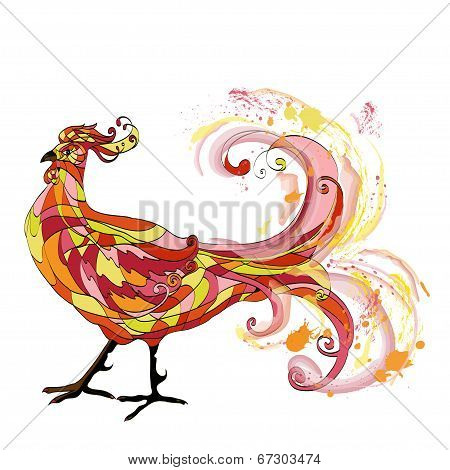 Rooster graphic illustration