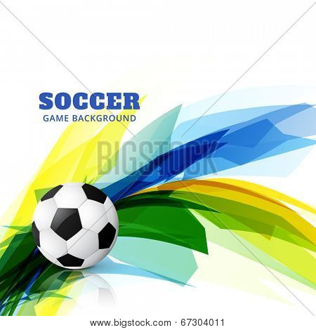 abstract colorful soccer game vector design