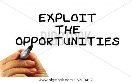 Exploit The Opportunities