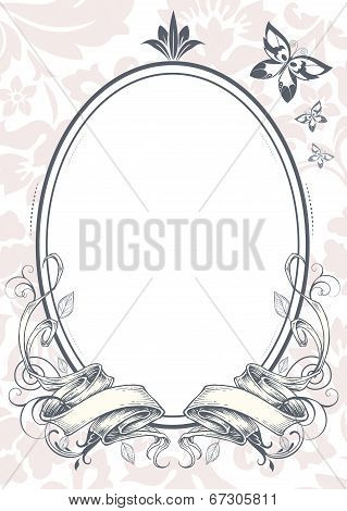 Ornate Mirror Vector illustration