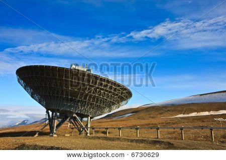 Directional Radio Antenna On Hillside