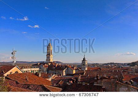 The city of Ivrea, Piedmont, Italy
