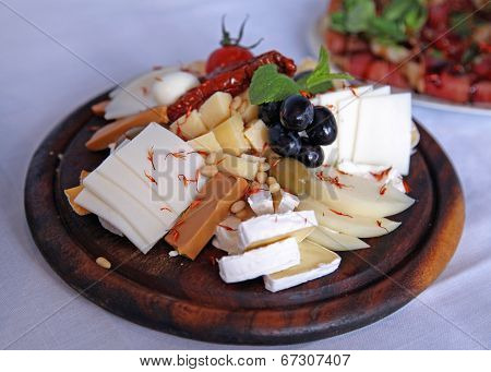 Cheese On A Board