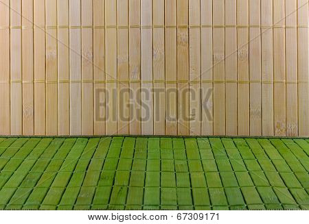 Wall And Floor Of Straw Mat