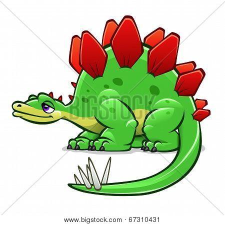 Green Cartoon Dinosaur