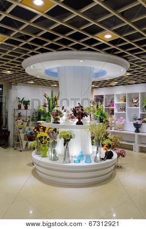 SHENZHEN, CHINA-APRIL 13: fresh flower shop interior on April 13, 2014 in Shenzhen, China. ShenZhen is regarded as one of the most successful Special Economic Zones.