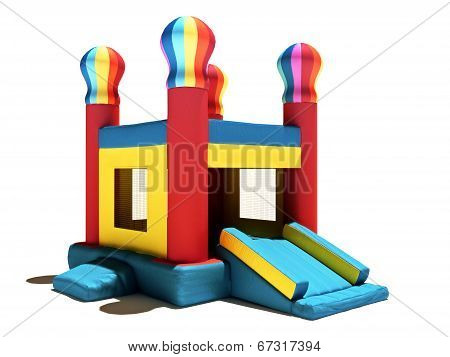 Children's Bounce house on a white background.