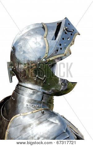 Armour Of The Medieval Knight Isolated On White