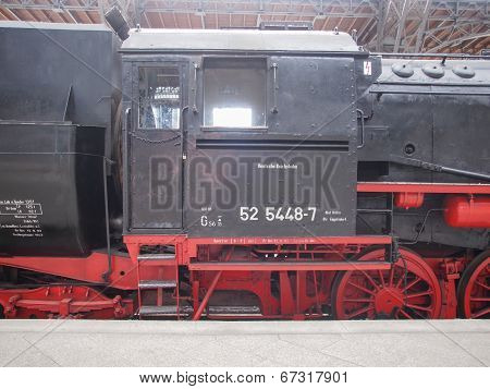 Historical Dr Locomotive In Leipzig Hbf