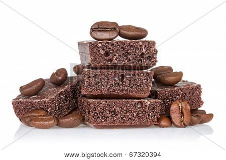 Picture Of Coffee Beans And Chocolate