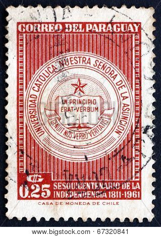 Postage Stamp Paraguay 1961 University Seal