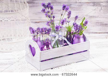 Lavender In Bottles Decor
