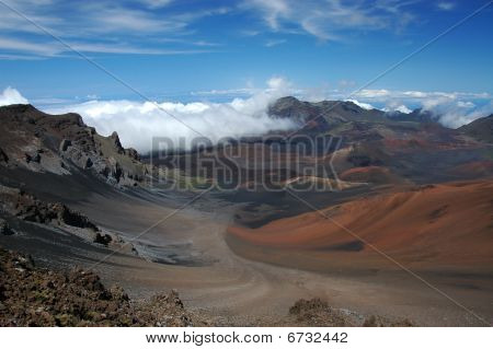 The Crater Of Haleakala Volcano..