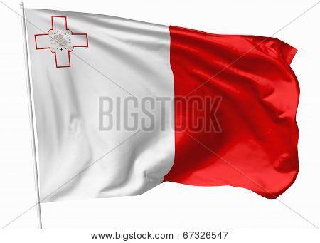 Flag Of Malta On Flagpole